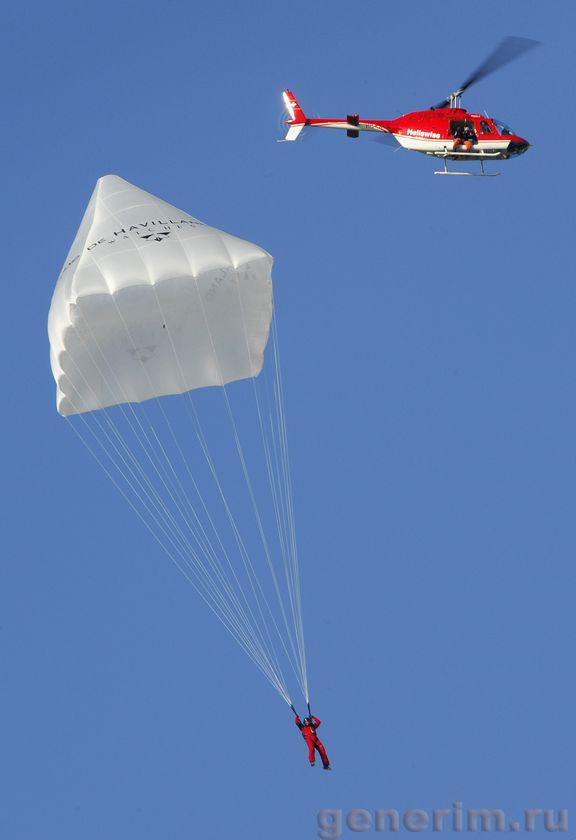 Испытание парашюта Да Винчи 2008 года