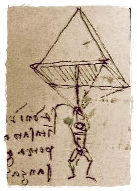 Схема парашюта Да Винчи