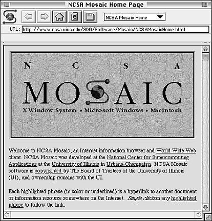 Mosaic, первый браузер