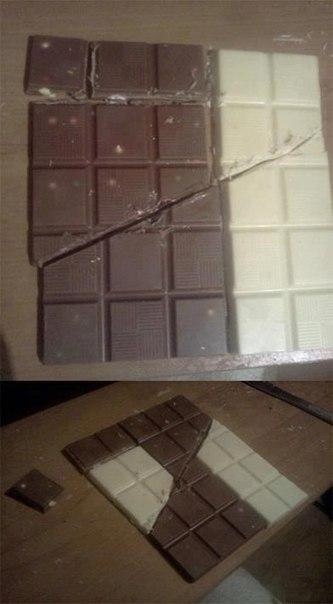 Фокус с шоколадкой схема.