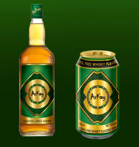 Литровая бутылка и и банка 335 мл суррогата Arkay